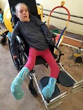 Julia of Znamyanka Orphanage is the Recipient of the wheelchair
